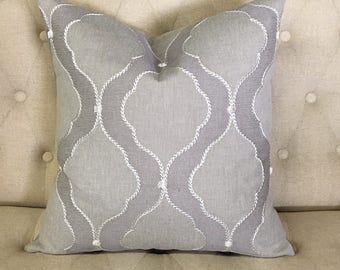 "Pewter Heritage 20""x20"" Pillow Cover"