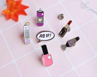 Make Up Beauty Items Enamel Lapel Pin Set