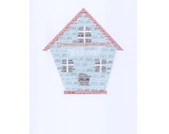 New Home word art framed
