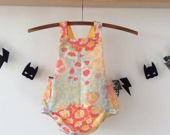 Bloomer Romper, upcycled fabric
