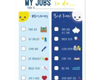 Chore Chart, To do list, Morning routine, Routine Chart, Bedtime routine, Responsibility chart, Routine Chart, Kid Chores, Instant Download