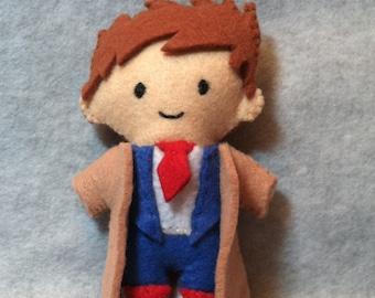 Dr. Who, David Tennant (10th Dr Who) Felt Plushie
