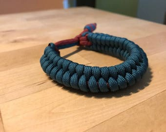 Teal and Crimson Rattlesnake Bracelet