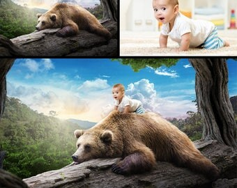 Put your own photo in this image - On a Bear