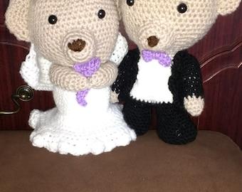 crochet wedding bears