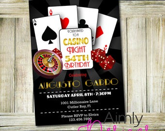 Casino Night Party Invitation