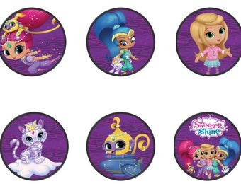 Shimmer and Shine Cupcake Toppers, Shimmer and Shine Birthday Party, Cupcake Toppers