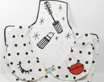 The Betty// Faux Peter Pan Collar// Hand-sewn & Hand-embroidered
