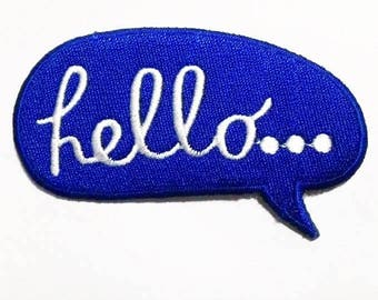 Quotes Blue Hello patch.