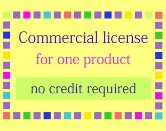 Commercial License for One Clip Art or Digital Paper Set. No credit required.