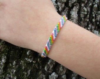 Handmade Custom Diagonal Striped Friendship Bracelets ~ Your Imagination is the Limit!