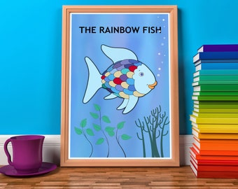 Prints for a Playroom. Nursery room. Corner Read. Holiday Deals Combo. Thanks giving  027 Children's book - art - decor room - RAINBOW FISH