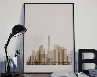 Paris Art Paris Watercolor Paris Multicolor Paris Wall Art Paris Wall Decor Paris Home Decor Paris Skyline Paris Print Paris Poster Unframed