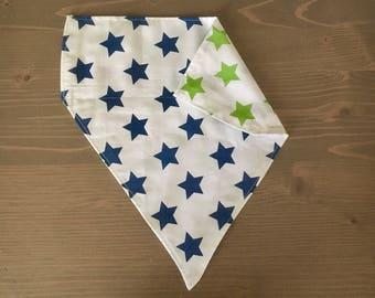 Blue/Green Star Dog Bandana