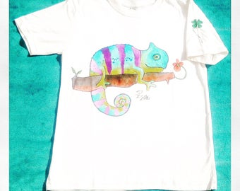 Organic cotton children's hand painted t-shirts