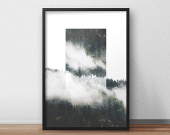 Abstract Forest Print Wall decor, Art Print, Home decor, Wall art, Best selling printable, Rustic home decor, Modern art, Contemporary art