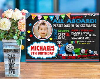 Thomas Train Invitation / Thomas Train Birthday / Thomas Train Birthday Invitation / Thomas Train Party / Thomas Train printable / Thomas-24