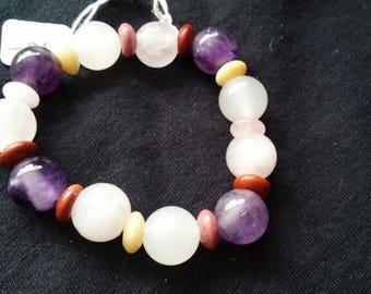 Gemstone Elastic Bracelet