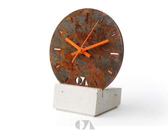 concrete/steel clock