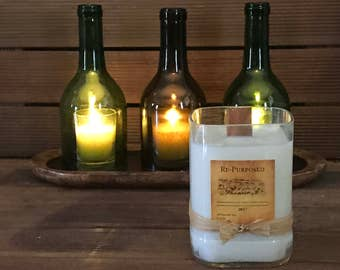 Cedar & Saffron soy repurposed candle