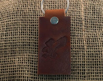 Genuine Leather Key Chain - Eagle