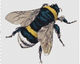 Classic Bumble Bee Cross Stitch Pattern (Pattern #032)