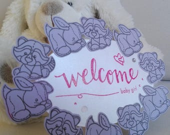 Welcome baby card Welcome Baby Girl birth announcement / Baby Boy