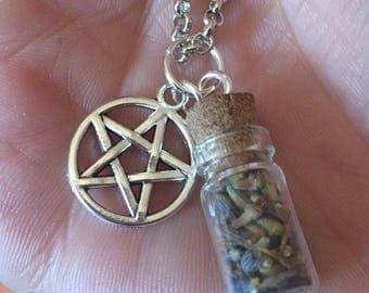 Lavender Vial Necklace