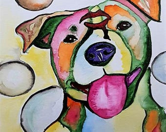 Custom water color Pet painting
