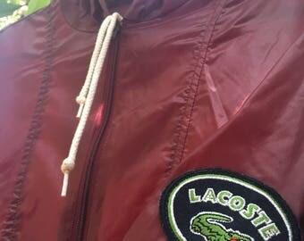Lacoste Maroon Patch Windbreaker