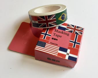 Flags of the World Washi Tape