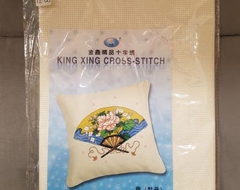 Oriental Fan Cushion Cross Stitch Kit