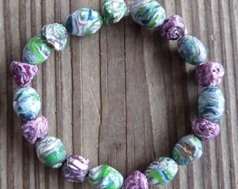 Ooak Polymer Clay Beaded Bracelet