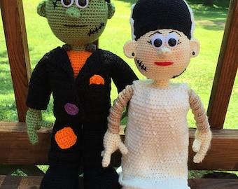 Large Frankenstein and Bride Set