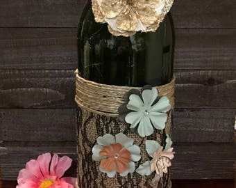 decorative wine bottle