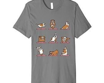 GCDigital : English Bulldog Doing Yoga Digital For T-Shirt