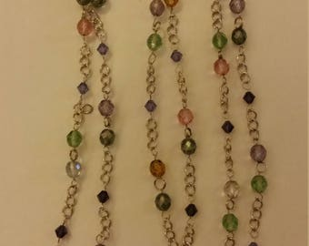 Glass bead / chain necklace