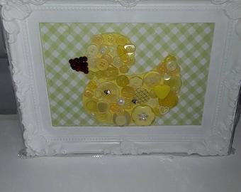 Nursery button handmade picture