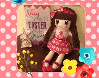 Cute Rosie Pink Cloth Doll