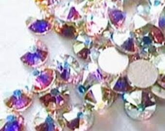 Swarovski crystals flat back stones gems rhinestones non hotfix 50 piece crystal ab clear ss 1.3mm