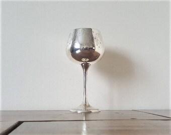 Vintage sliver-plated tall goblet