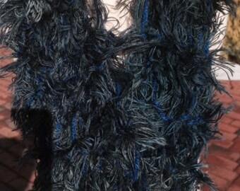 Unique faux fur cowl