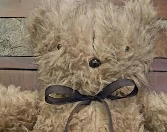 Fuzzy Faux Fur Teddy Bear Including Matching Long Pillow!
