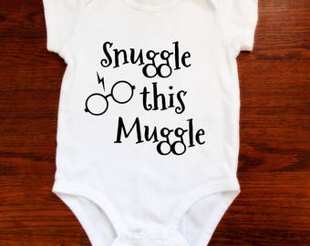 Snuggle This Muggle Onesie - Harry Potter Onesie - Baby Onesie - Harry Potter Baby Gift - Baby Shower Gift - Harry Potter Gift