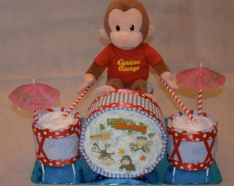 Plush Character Baby Diaper Drumset