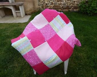 Carpet of awakening baby pink patterns