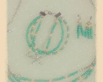 turquoise starfish set