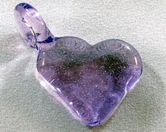 Purple Glass Heart Pendant