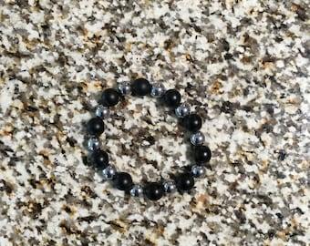 Black/silver beaded Bracelet
