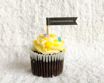 Congratulations! Cupcake Flag
